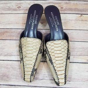 Donald J Pliner 8 Moira Snakeskin Mules Heels